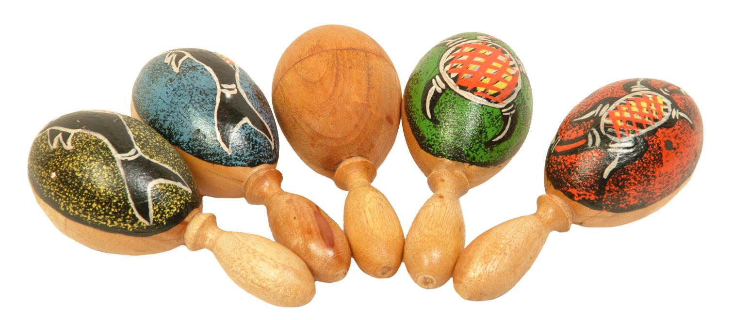 Rassel aus Holz