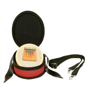 Sansula-Set: Sansula Basic Beautiful E 440 Hz mit Sansula-Tasche Deluxe rot kaufen München, Sansulatasche für Hokema Sansula kaufen München, Koffer für Daumenklavier kaufen, buy Hard-Cover Case for thumb piano Sansula, professionelle Sansula-Box, Hülle fü