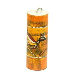 Donnertrommel groß, Känguru auf gelb-orange kaufen München, Donnertrommel kaufen, Donner-Geräusch kaufen München, Donner kaufen, buy thunder drum with cangaroo, Donner-Klang kaufen, Donnertrommel orange mit Känguru