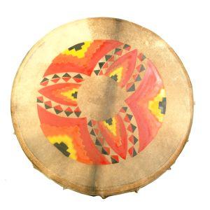 Rahmentrommel N2 Feuermandala, 45 cm kaufen München, Schamanen-Trommel, schamanische Trommel kaufen Erding, Schamanen-Trommel kaufen Bayern, buy shamanic-drum 17,7
