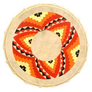 Rahmentrommel Feuermandala, 50cm kaufen München,  Schamanen-Trommel kaufen München, Indianer-trommel, schamanische Trommel, shamanic-drum, frame-drum 19,7