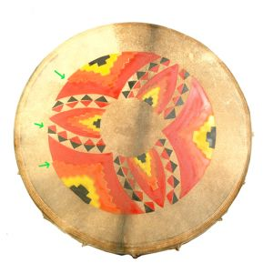 Rahmentrommel N2 Feuermandala, 45 cm kaufen München, Schamanen-Trommel, Rahmen-trommel kaufen Erding, Schamanen-Trommel kaufen Bayern, buy shamanic-drum 17,7