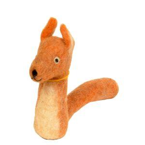 Filz-Fingerpuppe Eichhörnchen kaufen München, Handarbeit Eichhorn Finger-puppe aus Filz, Felt, handmade glove puppet squirrel made of felt, natürliches Kinder-Spielzeug aus Filz, Filz-Finger-Puppe Eichkatze, Filz-Tier, Filz-arbeit, Filzfingerpuppe Eichhör