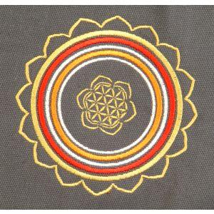 Rahmentrommel-Tasche CP Mandala rauchgrau, 44 cm kaufen München, Rahmentrommeltasche kaufen Bayern, Indianer-Trommel-Tasche kaufen, buy 17,25