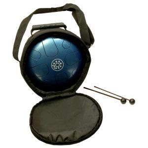 Schlitztrommel Happy-Drum blau G-Minor kaufen München, Schlitz-Trommel kaufen München, Happy-Drum blau G-Minor kaufen München, Tongue-drum, Zungen-Trommel, Tank-Drum, Schlitz-trommel Happy-Drum G-Minor blau mit Tasche