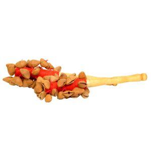 Nutshaker Feuer mit rotem Garn kaufen München, Nutshaker kaufen, Nut-Shaker kaufen, Nuß-Rassel, Seelenwanderer, Nuss-Schüttler, Nuß-Rassler, Nuss-Rassel, Nuss-Schalen-Rassel - Nutshaker Feuer mit rotem Garn