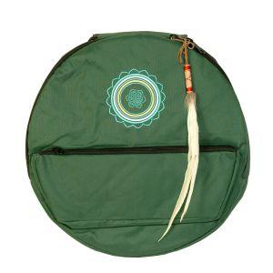 Rahmentrommel-Rucksack Deluxe dunkelgrün, Mandala - 44 cm kaufen München, Rahmentrommelrucksack, buy 17,3