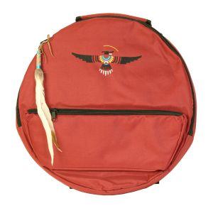 Rahmentrommel-Rucksack Deluxe rot, schwarzer Adler 39 cm kaufen München, Rahmentrommelrucksack kaufen Erding, buy 15,3