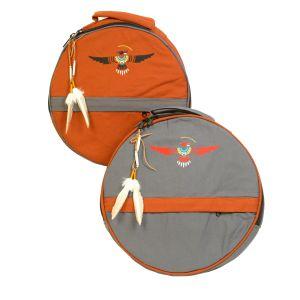 Rahmentrommel-Rucksack CP grau - Adler, 49 cm kaufen München, Rahmentrommel-Rucksack, kaufen Bayern, buy rucksack eagle for shaman drum 19