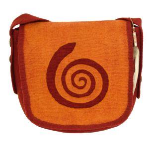 Rahmentrommel-Tasche Filz, orange-rot, 34 cm kaufen München, buy felt bag for shaman drum 12,5