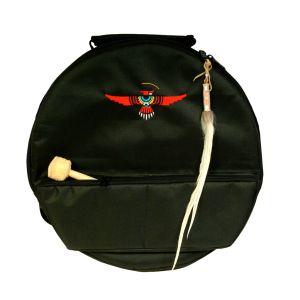 Rahmentrommel-Rucksack Deluxe schwarz, roter Adler - 48 cm kaufen München, Rahmentrommelrucksack, buy 19,3